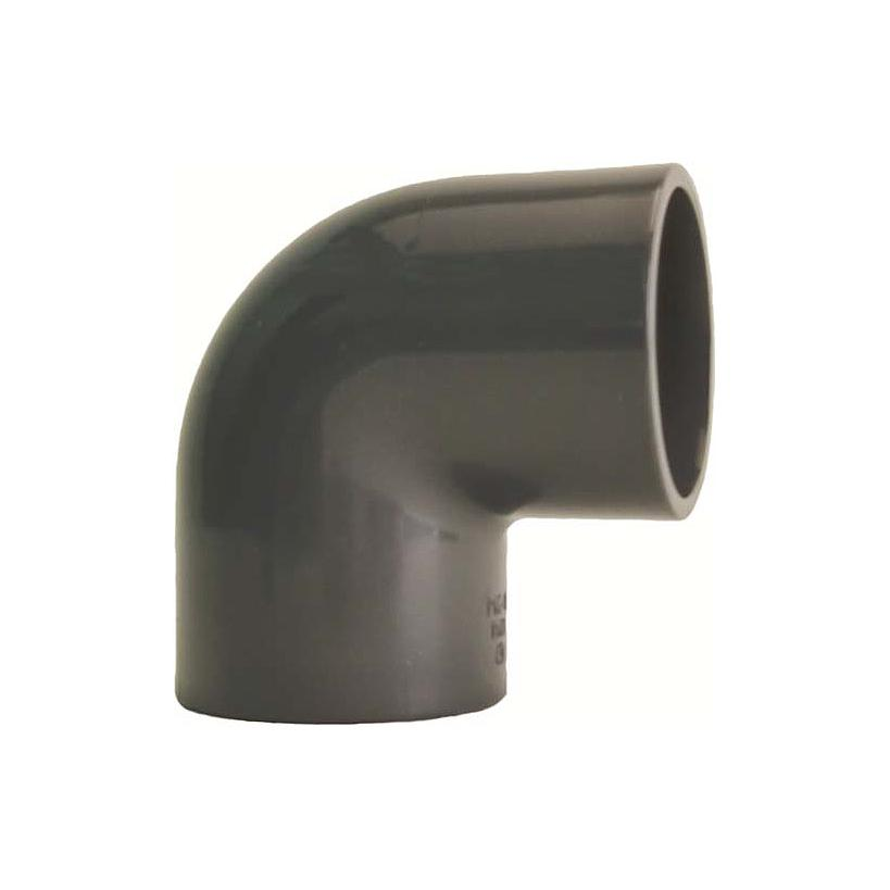 GF Rohr vormals JRG GF721100113 PVC-U Winkel 90° d 90 PN16, metrisch 721100113