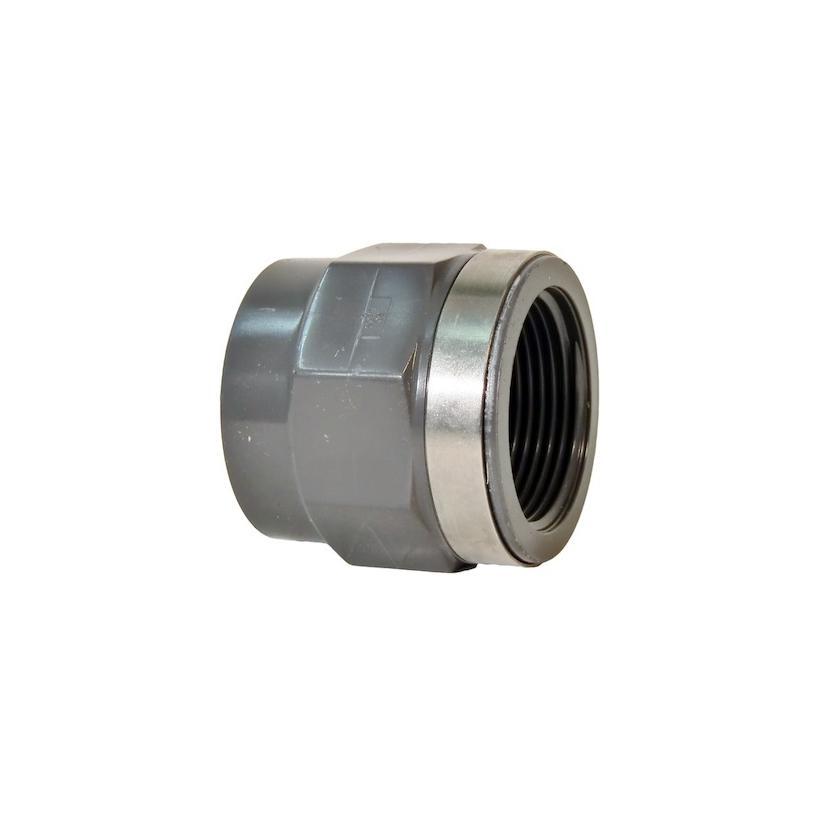 GF Rohr vormals JRG GF721910206 PVC-U Übergangs-Muffen d 20 Rp 1/2 PN16, metrisch-Rp 721910206