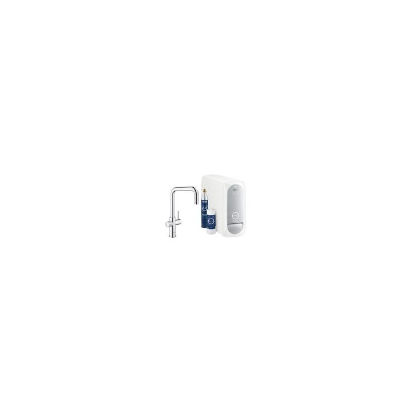 Grohe Blue Home U-Auslauf Starterkit supersteel 31543DC0