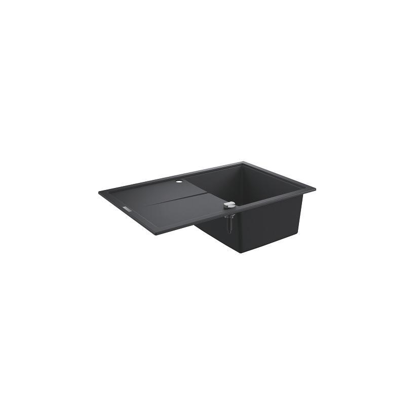 Grohe Kompositspüle K400 31639 1 Becken 780x500mm mit ATF re/li granit schwarz EC31639AP0