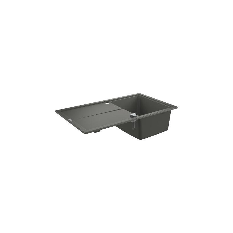 Grohe Kompositspüle K400 31640 1 Becken 860x500mm mit ATF re/li granit schwarz 31640AP0