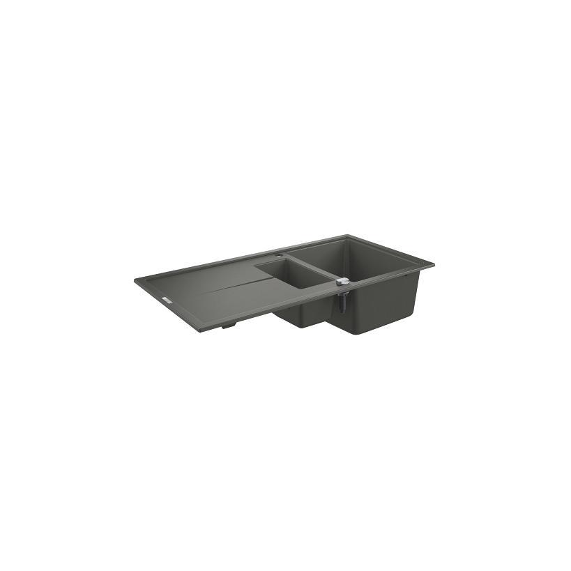 Grohe Kompositspüle K400 31642 1,5Becken 1000x500mm mit ATF re/li granit grau 31642AT0