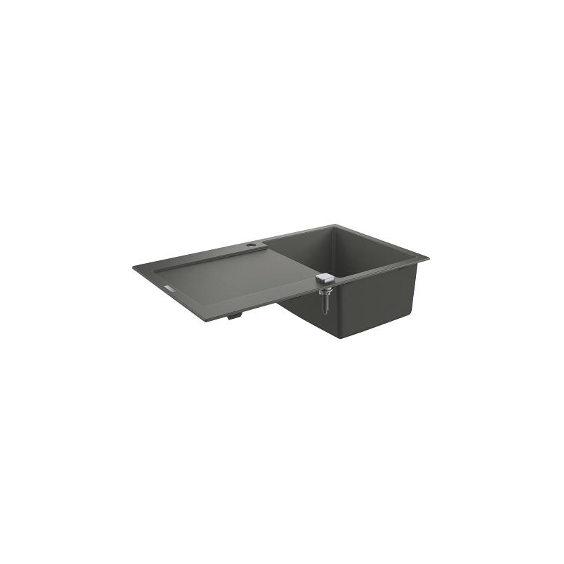 Grohe Kompositspüle K500 31644 1 Becken 860x500mm mit ATF re/li granit grau EC31644AT0
