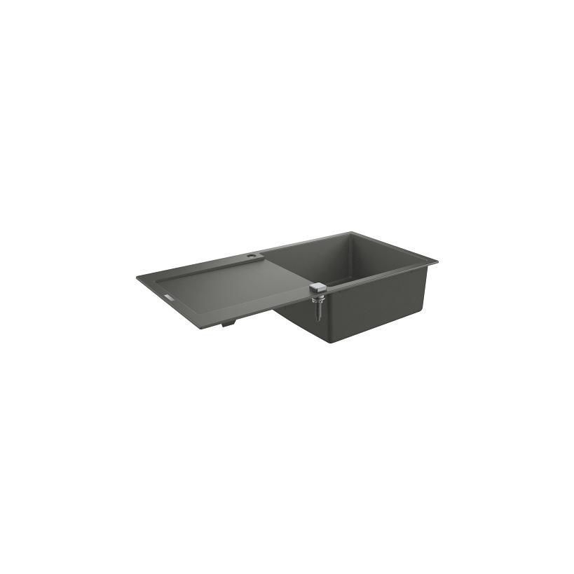 Grohe Kompositspüle K500 31645 1 Becken 1000x500mm mit ATF re/li granit grau EC31645AT0