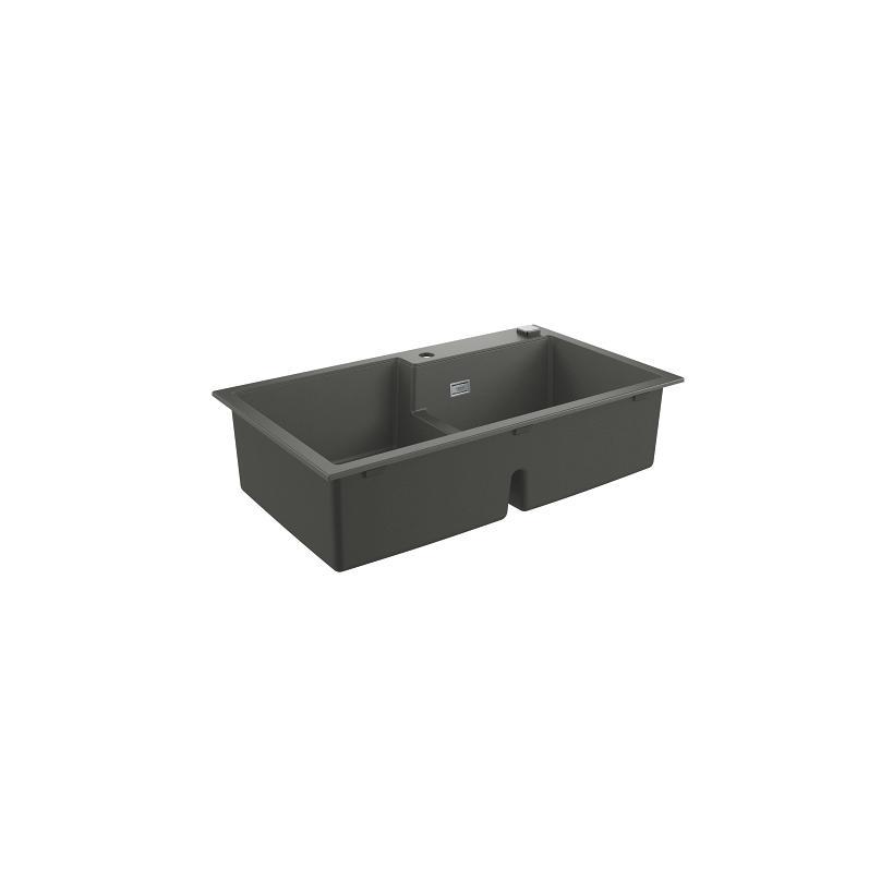 Grohe Kompositspüle K500 31649 2 Becken 860x500mm re/li granit schwarz 31649AP0