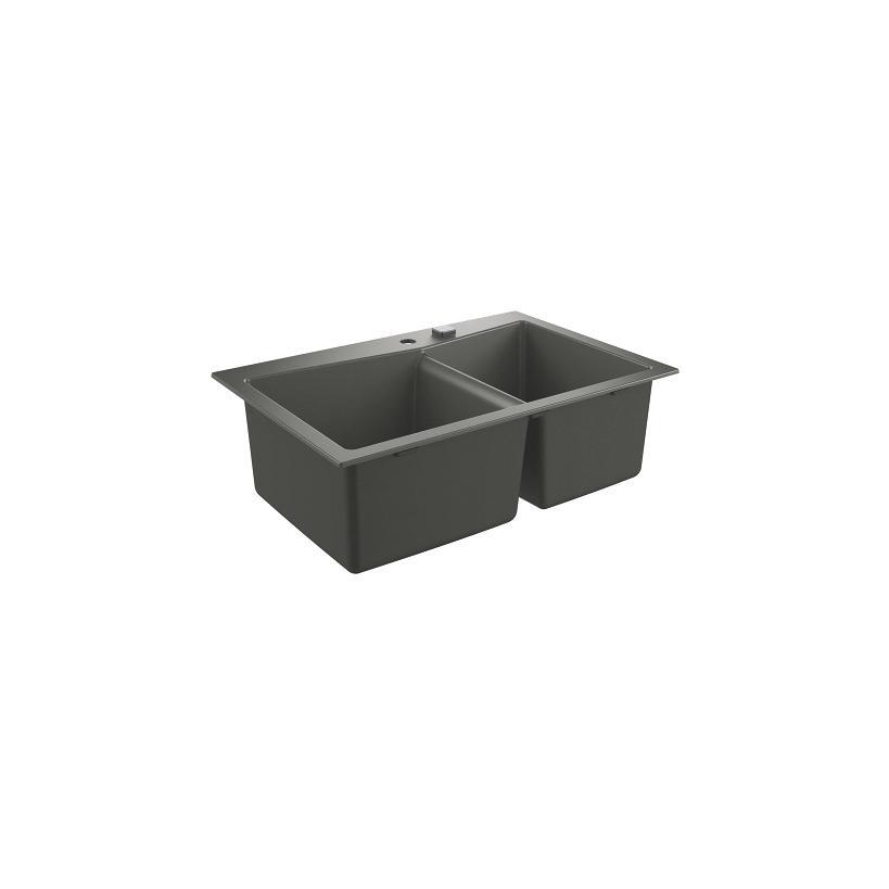 Grohe Kompositspüle K700 31657 2 Becken 838x559mm Einbau links granit schwarz EC31657AP0