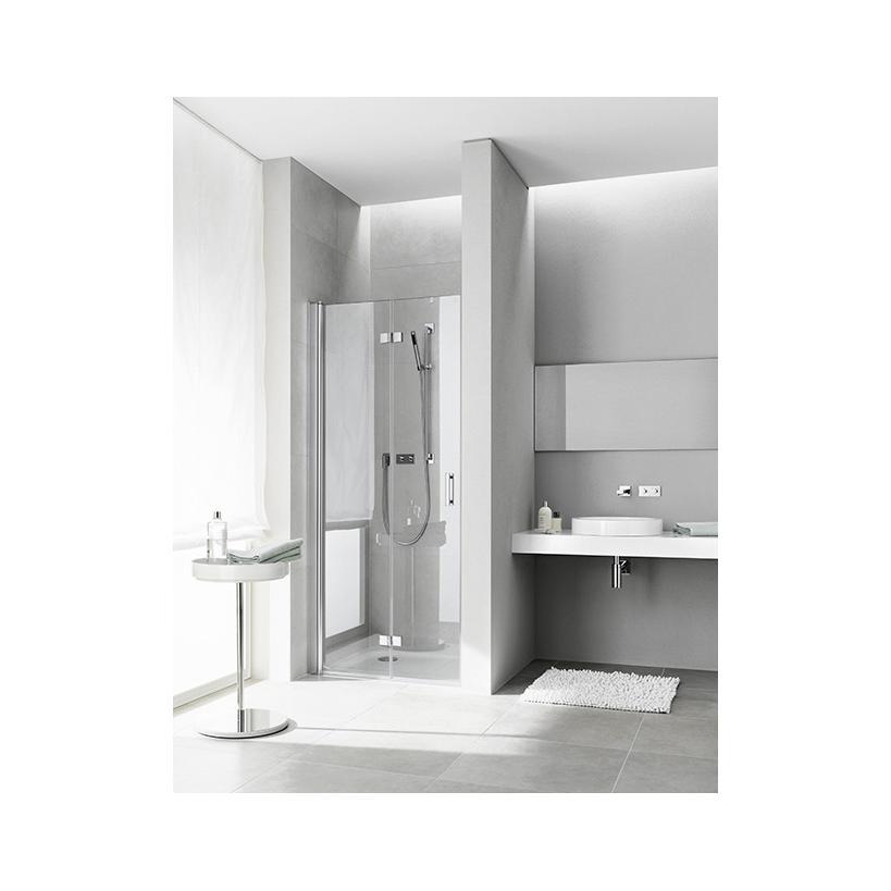Kermi Pendel-Falttür Diga 2DL 0700x 2000 BV: 683-708 WEI ESG klar Clean DI2DL070202PK