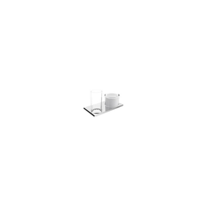 Passion KE Doppelhalter Edition 400 11553, Glas und Lotionspender, verchromt 11553019000