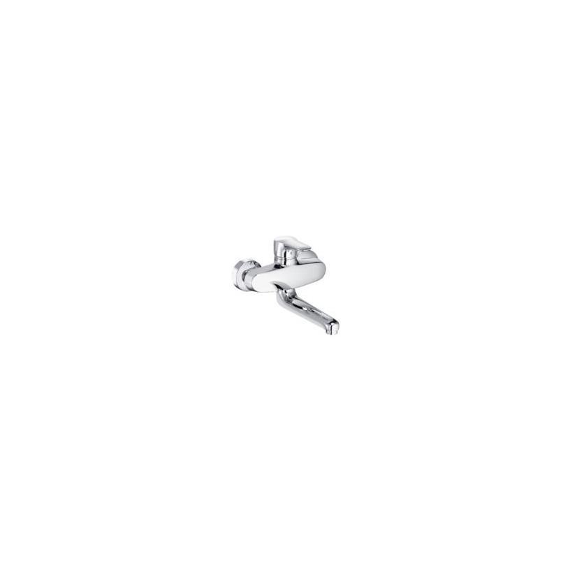 Kludi Objekta Spültisch-Wandmischer inkl.Auslauf, chrom 328820575