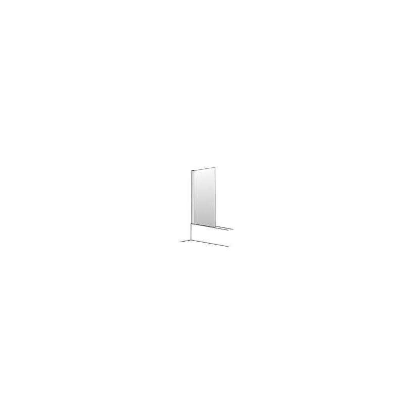 Palme Top-Drive Wannenabtrenn. 75cm links, Glas H1, cenit-chrom DKW75/H1/29L