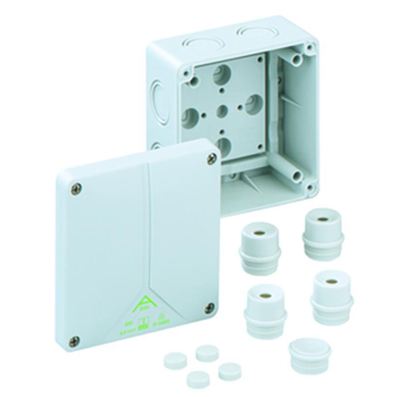 Siblik Elektrik GmbH & Co. KG FR Verbindungsdose IP65, 110x110x67mm Einführungen M25, Schraubdeckel S80690701