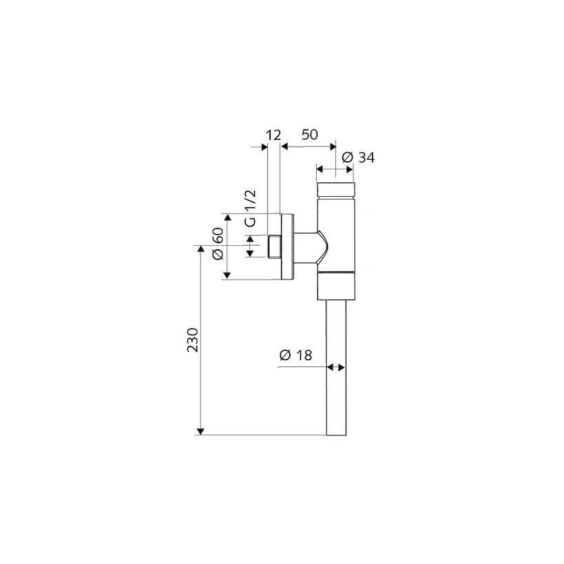 Schell Urinal-Drucksueler Schellomat Basic DN15 024760699