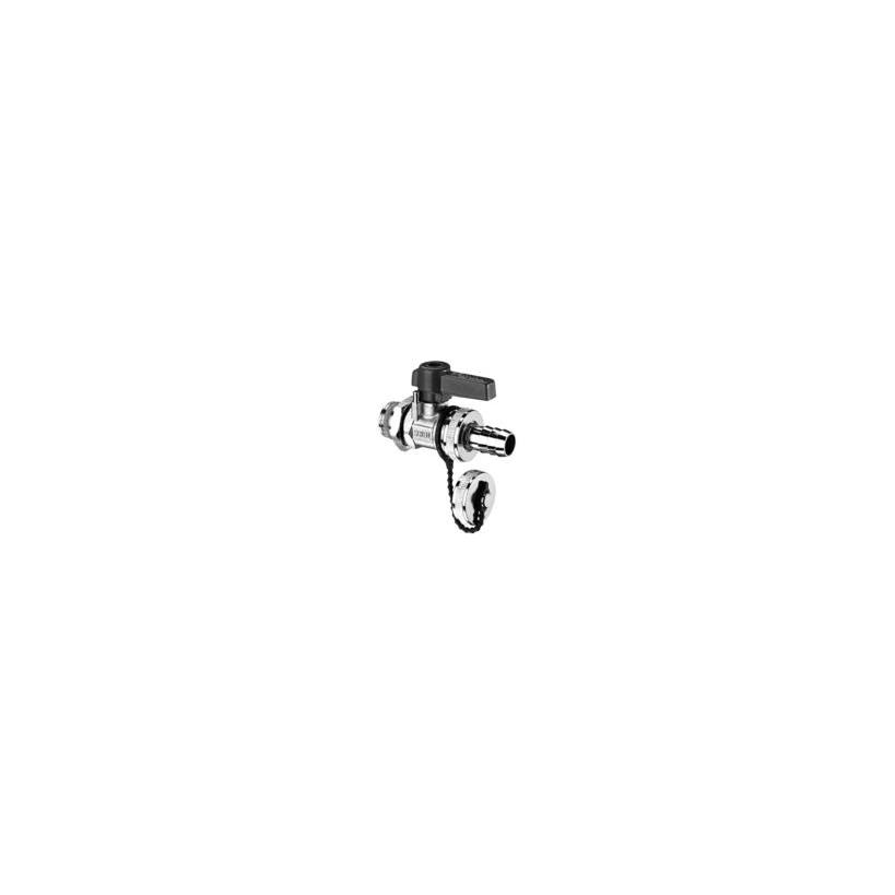 Schell-Kesselfuell-u.Entl.Kugelhahn Fig.13994 matt-verchr. 139940399