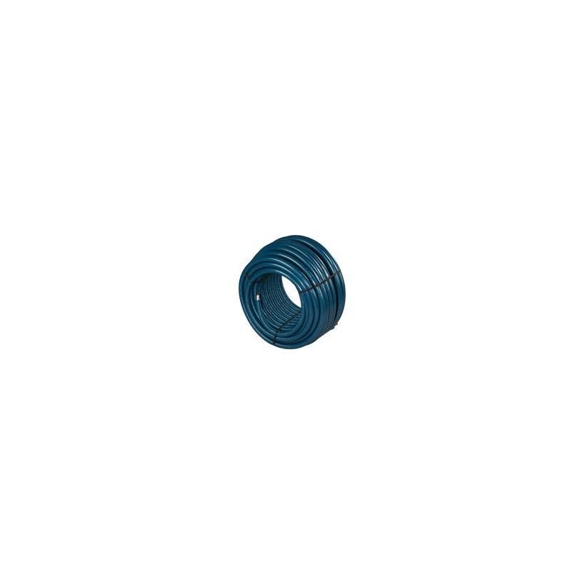Uponor Unipipe PLUS Rohr S4 16x2,0 weiß vorisoliert blau, Ring 100m 1063553