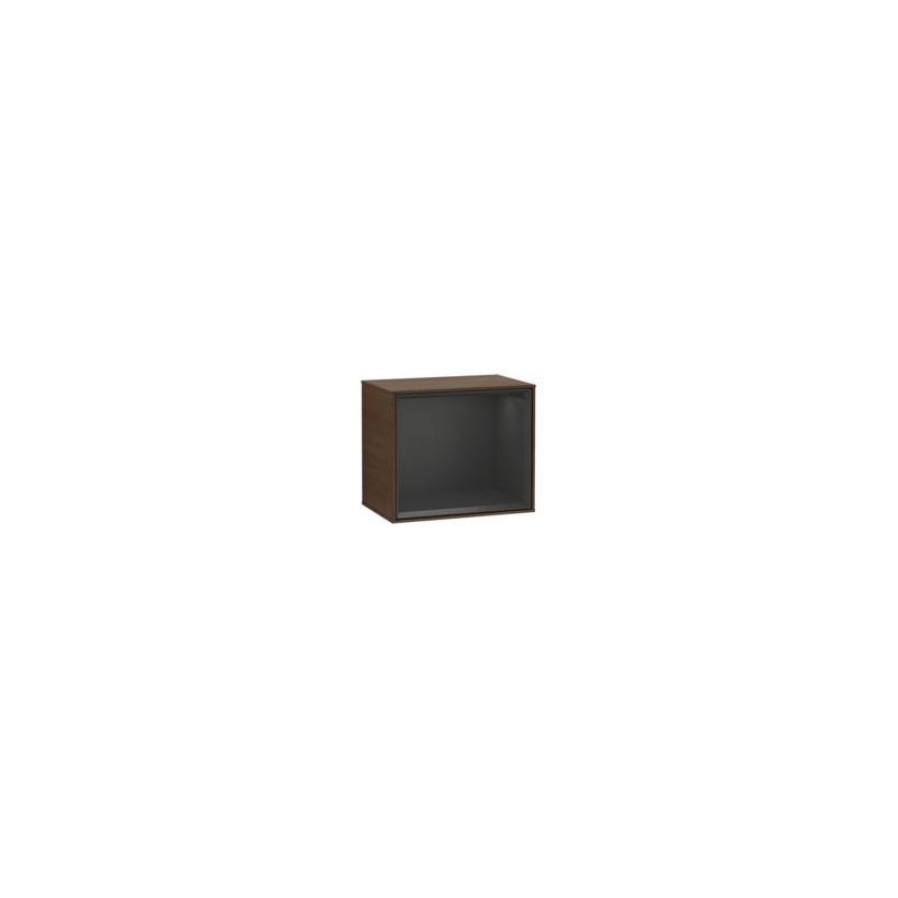 Villeroy & Boch V&B Finion Regalmodul 41,8x35,6x27cm mit Wandbeleuchtung light grey matt G580GJGJ