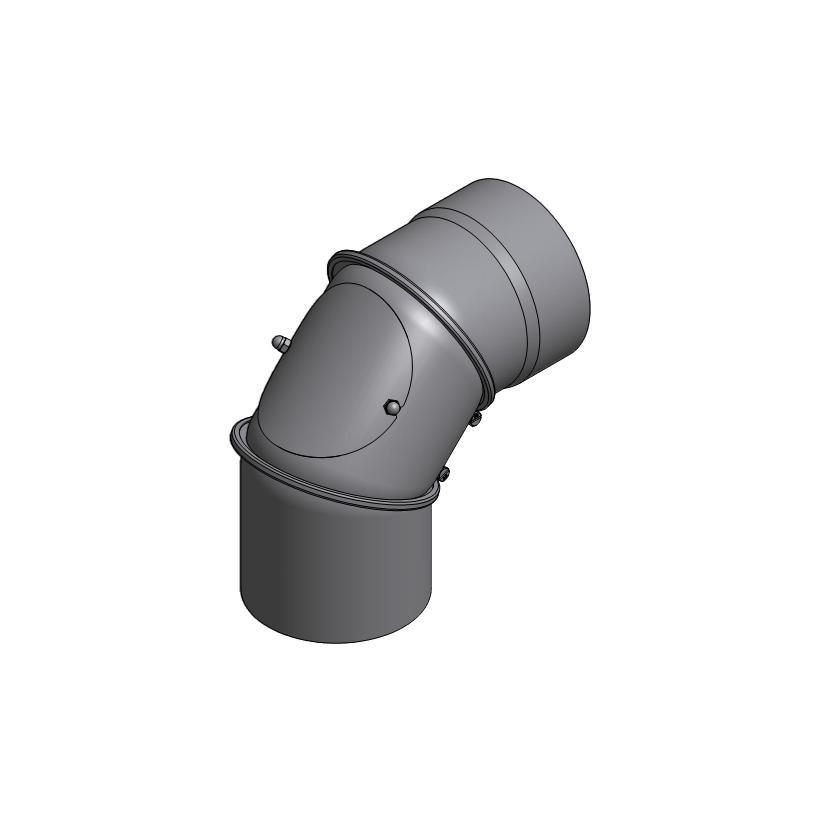 HÖRTNAGL ALVA ALEA Rauchrohrbogen gemufft 150 mm drehbar 0-90 Grad m.Putzoeffnung 007080181