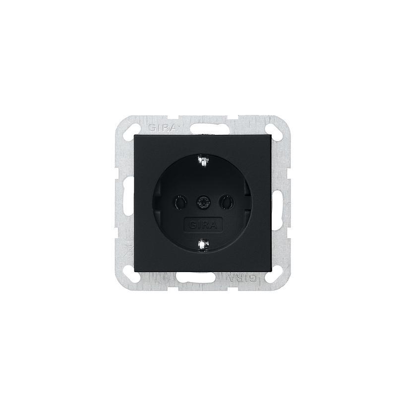 SCHUKO Steckdose System 55 schwarz matt 0188005