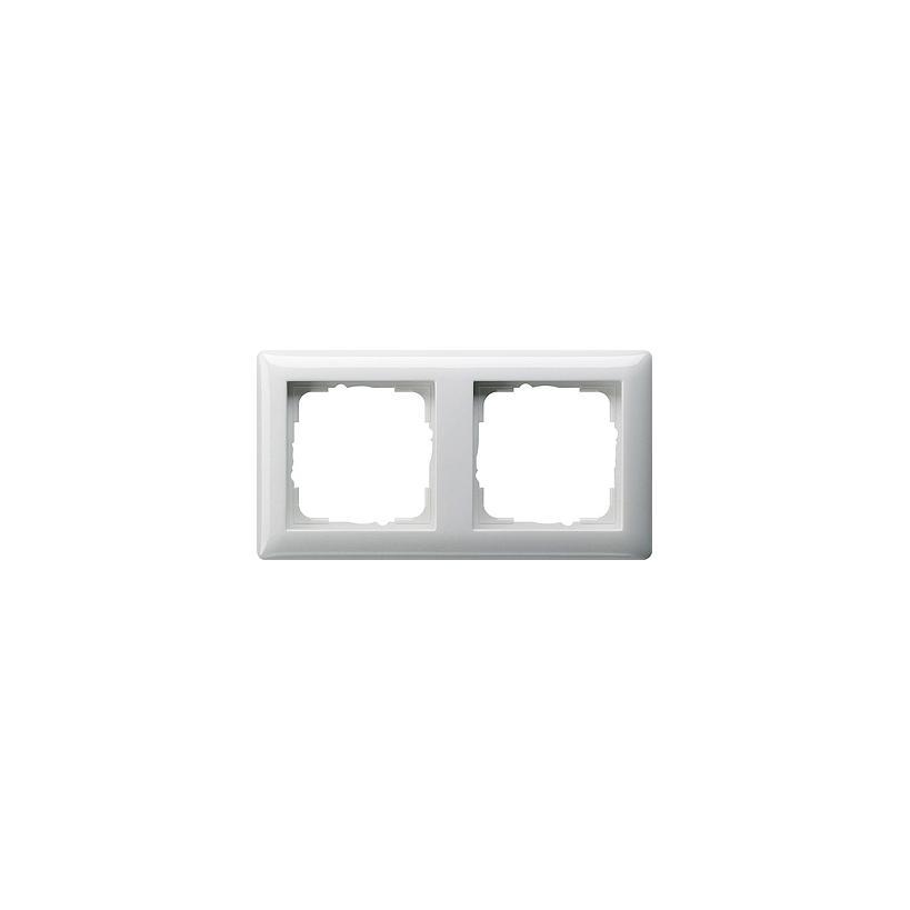 Rahmen 2fach Standard 55 reinweiß glänzend 021203