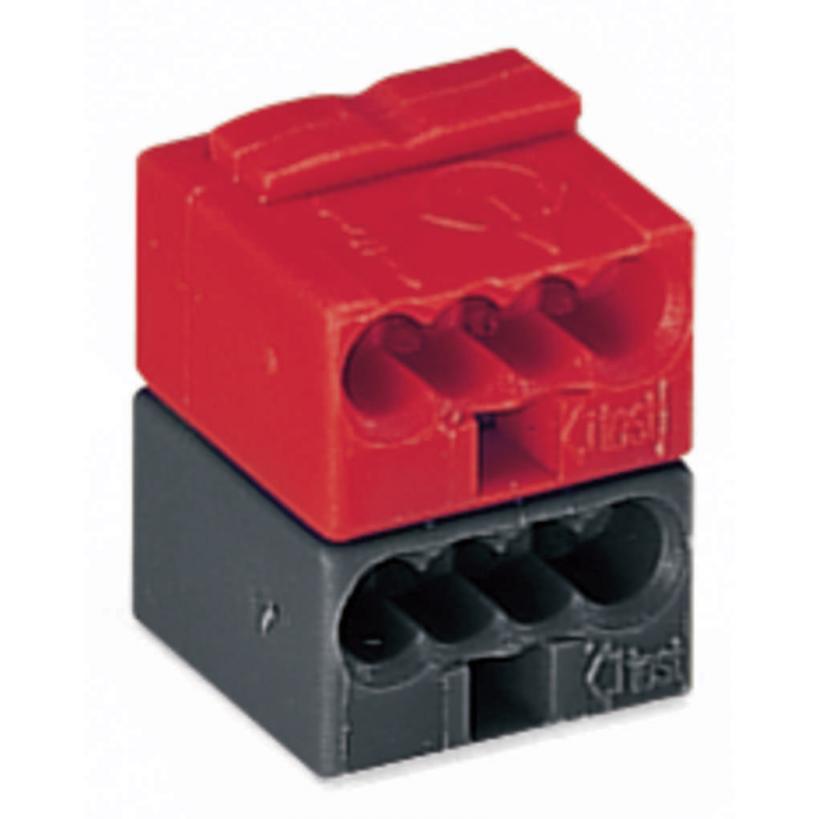 KNX/EIB Steckverbinderklemme 2x4-polig max. 0,8 mm², dunkelgrau/rot 243-211 (50 ST)