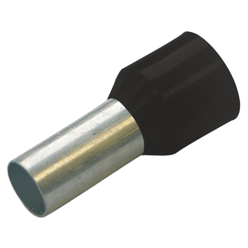 Aderendhülsen isoliert Farbserie III DIN 1,5 mm² / L 8 mm schwarz 270808 ( 100 Stück)