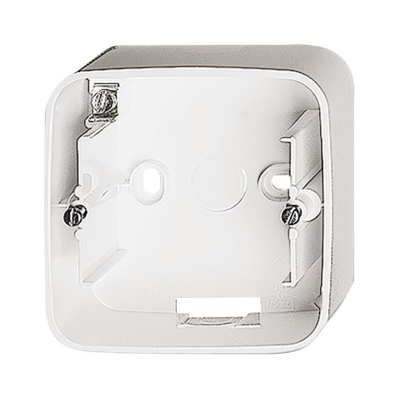 Aufputz Gehäuse 1-fach Reflex SI alpinweiß 2CKA001799A0295