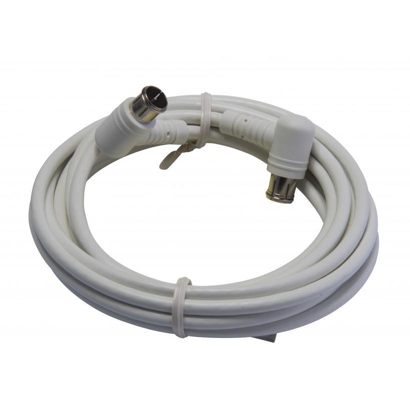 SAT-Anschlusskabel, hohes Schirmungsmaß >100 dB, Quick-F-Winkelstecker, Länge 1, 389328