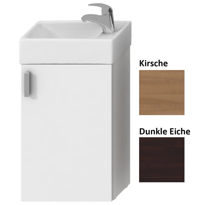 Gästebadlösung Komplettset weiß mit HWB, Spiegel, Licht, US mit 1 Tür, Weiß 4.5351.4.175.300.1