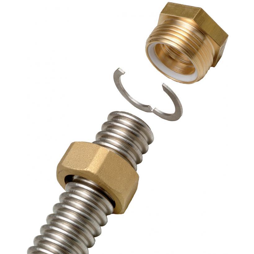"Alva alea ALVA ALEA Fix Lock wellendichtende Schnellverschraubung DN16 1/2"" AG M46104FL"
