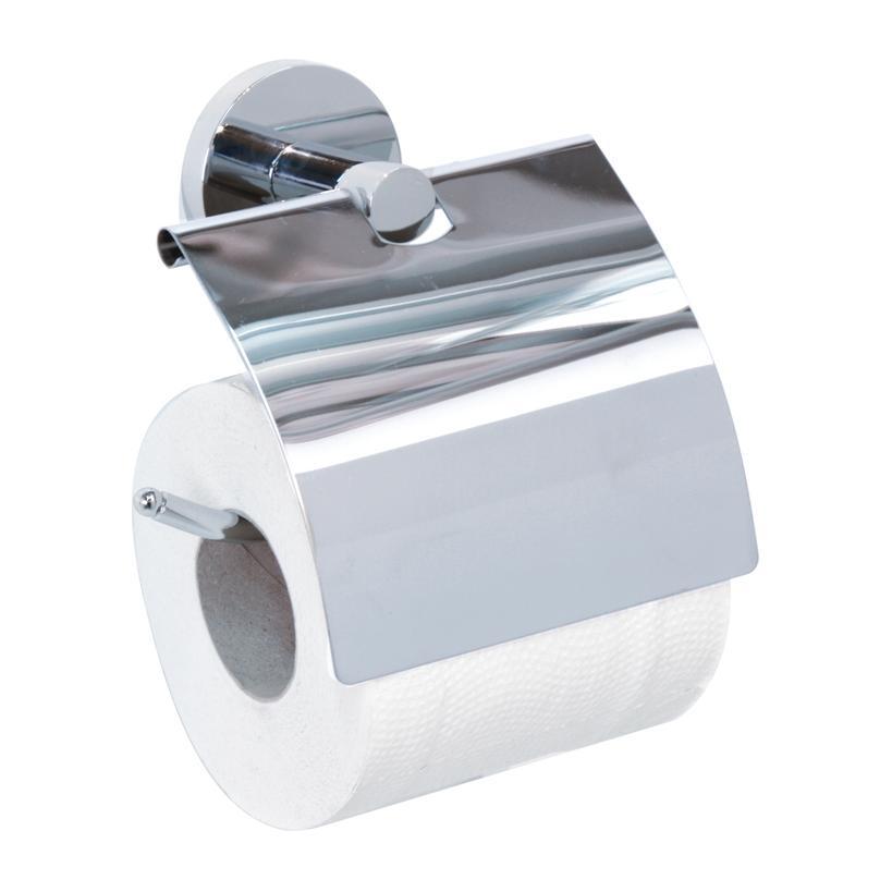 Alva aqua Alva Prisma Ora Toilettenpapierhalter m. Bügel und Deckel, zum Kleben, Chrom 634810FT