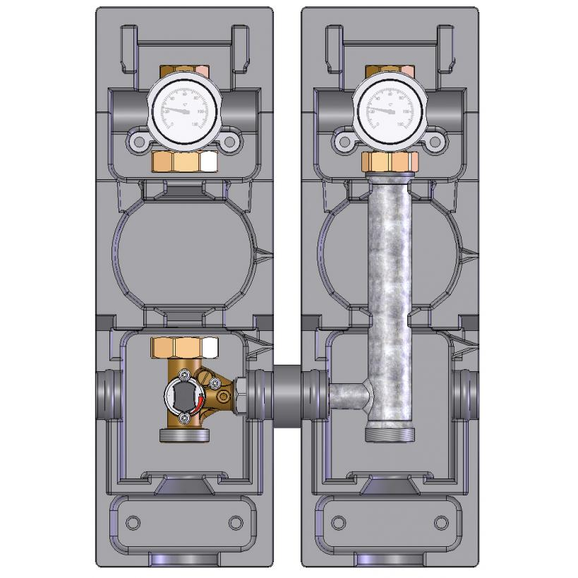 "Alva alea ALVA ALEA Pumpenbaugruppe V-MK 5/4"" gemischt, ohne Pumpe, VL links M66834EA"