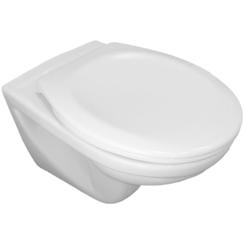 Alva aqua Alva Aqua Una Wand-WC Tiefspüler spülrandlos, Weiß 8.2137.7.000.000.1