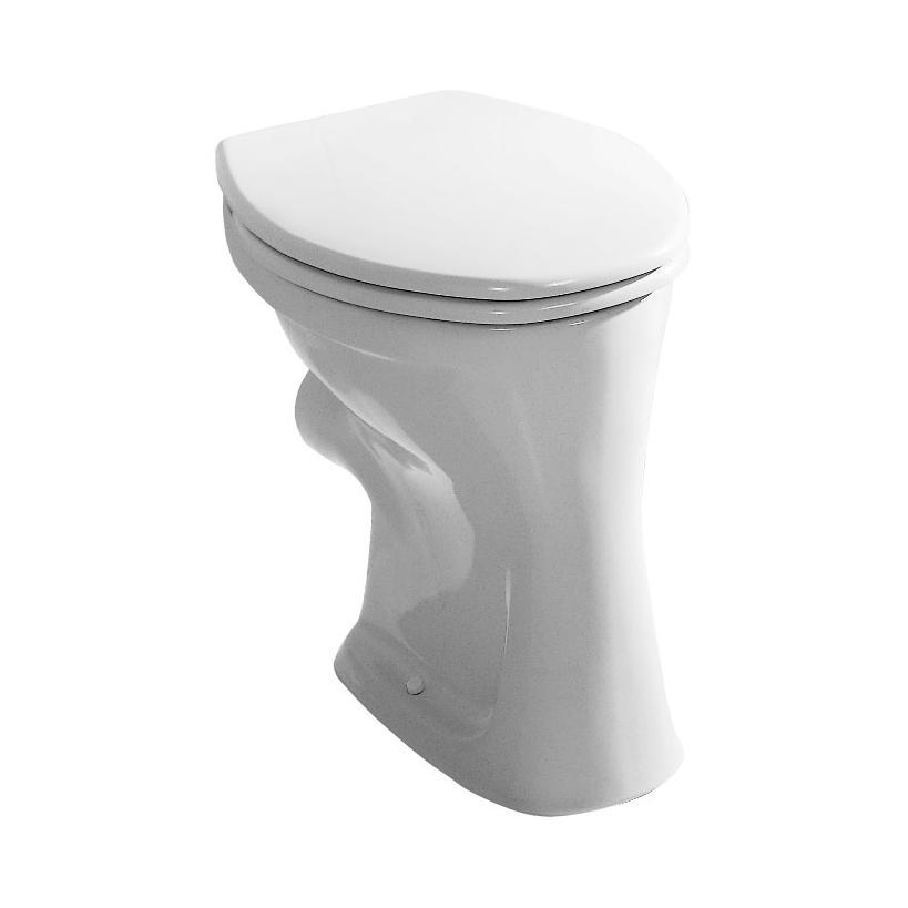 Alva aqua Alva Aqua Una Stand-WC Flachspüler Abgang waagrecht, Weiß 8.2200.0.000.000.1