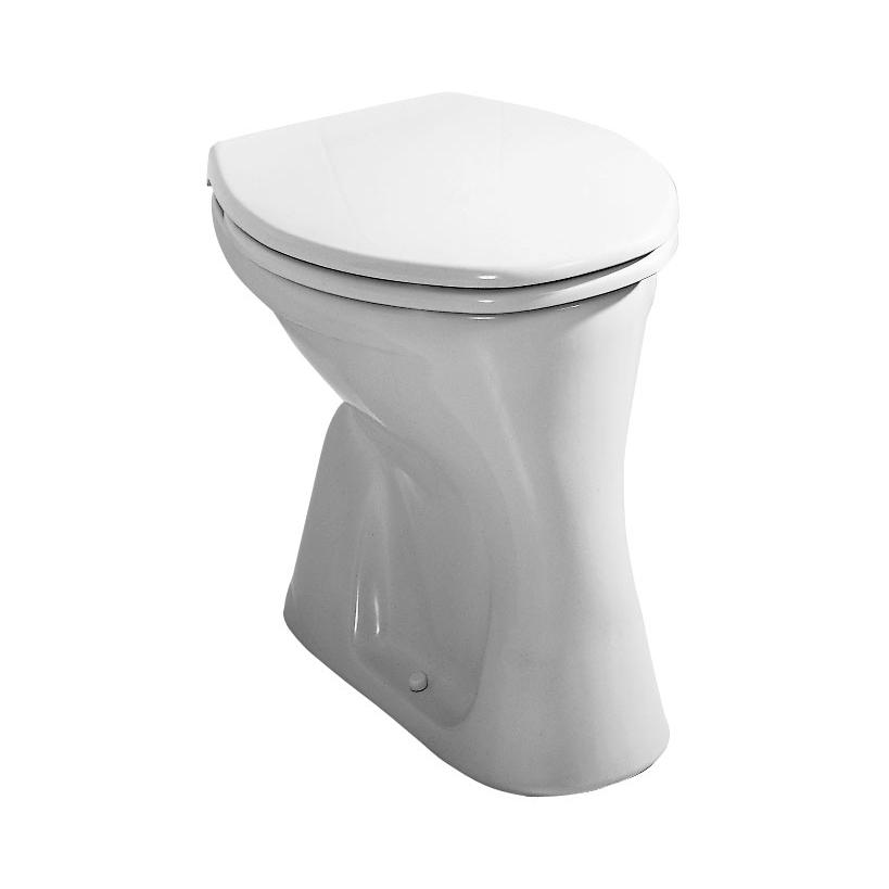 Alva aqua Alva Aqua Una Stand-WC Flachspüler Abgang senkrecht, Weiß 8.2200.8.000.000.1