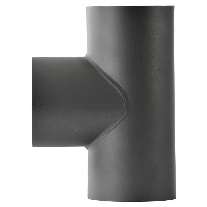 Alva alea ALVA ALEA Rohr-T-Stueck 130mm2mm schwarz f.Zugregler 150mm Dm 081312