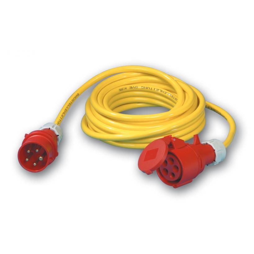 CEE Verlängerung 25m N07V3V3  5x2,5° Stecker --> Kupplung, 16A 5p 980925525111-P