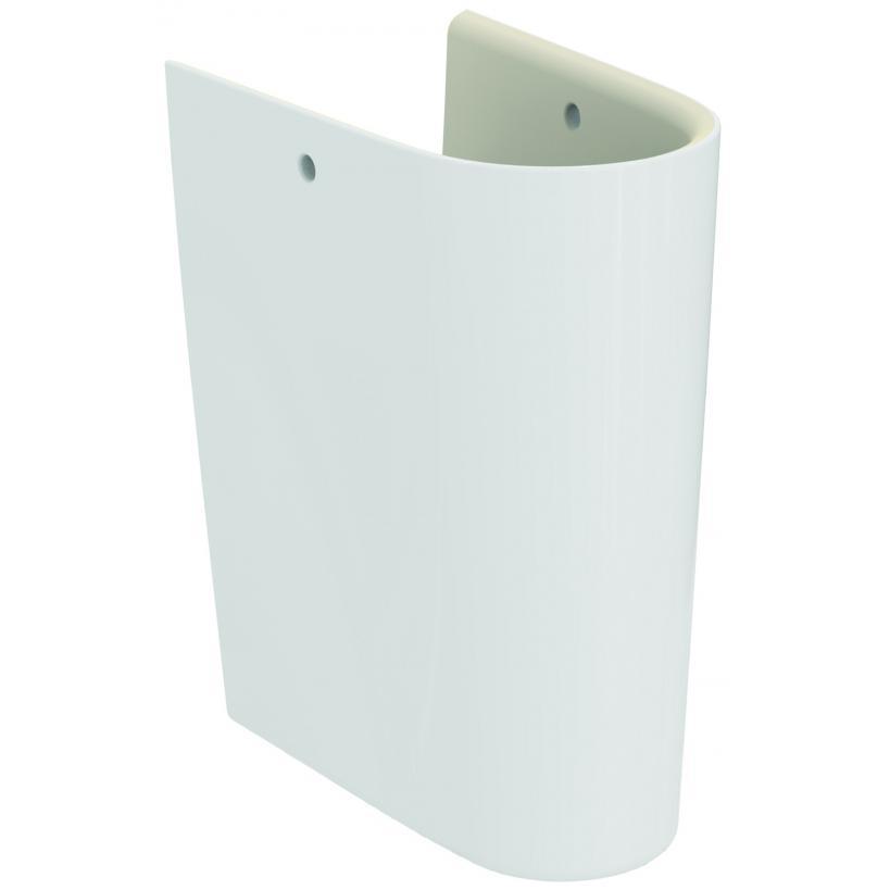 Alva aqua Alva Prisma Bela Halbsäule für Handwaschbecken flache Ausführung, Weiß E034501