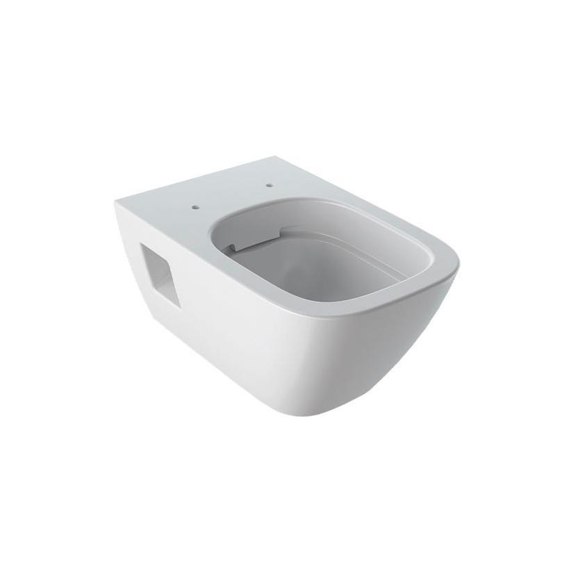 Geberit-Keramag Geberit Renova Set WWC-T+WC-Sitz T54 Absenkautomatik, Rimfree 500699011