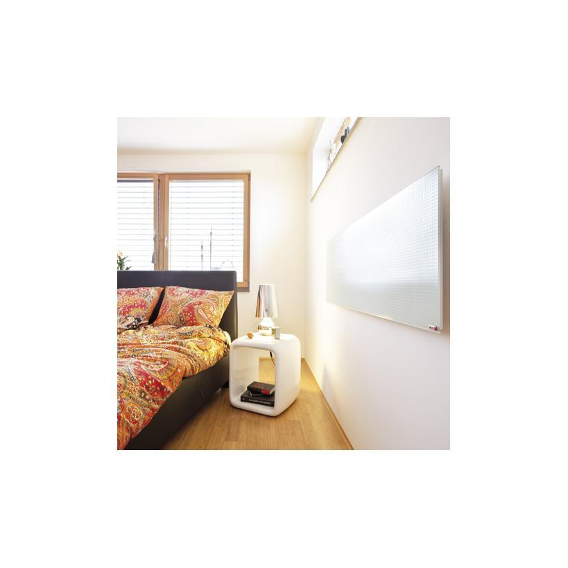 Redwell Glasheizung R1100, Weiß glatt 1100W, 1620x620x19mm, Wandmontage R1100GWF0EU