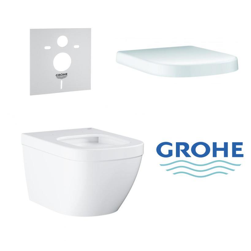 Grohe Wand-Tiefspül-WC Set mit Sitz und Schallschutz