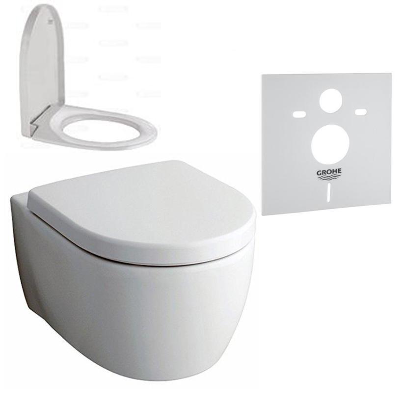 Geberit iCon Tiefspül-WC ohne Spülrand Set mit Deckel und Schallschutz