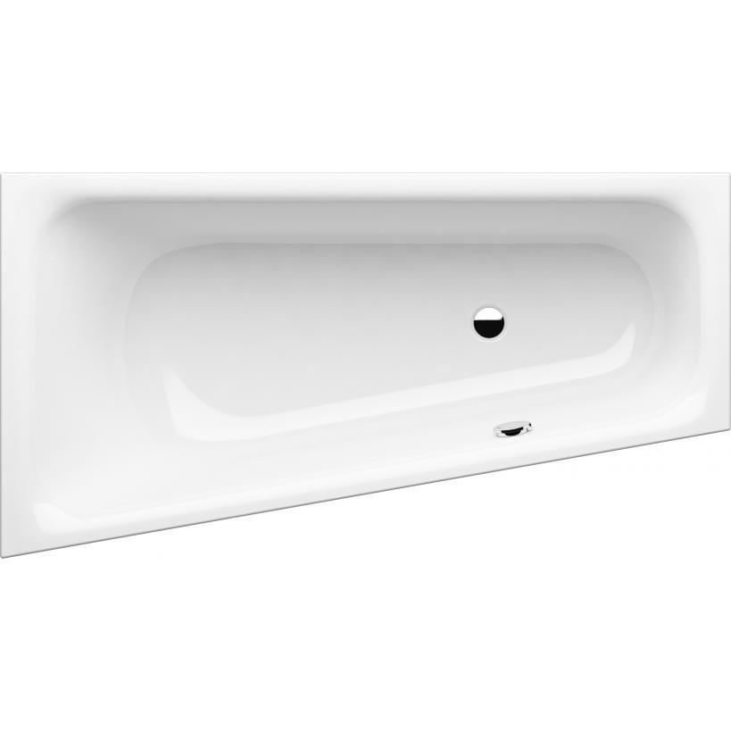 GKI Sanitär-VertriebsgesmbH GKI Passion Acryl Wanne Trapez rechts 175x135/70cm, Überlauf li.,Weiß,oh. Füße SOBWE175135RW